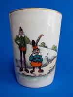 Antik kézzel festett Karsbad Austria csésze