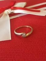 14K arany gyűrű belső átmérője 17mm