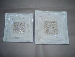 2 db kínai lakk gyöngyházberakásos kínálótál
