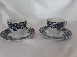 Bavaria sötét kék - fehér kávés csésze + alj  /  1841 /1