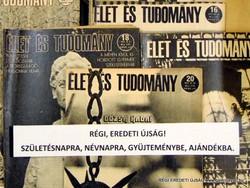 1972 szeptember 1  /  ÉLET ÉS TUDOMÁNY  /  SZÜLETÉSNAPRA RÉGI EREDETI ÚJSÁG Szs.:  6156