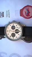 Gyönyörű Ascot chronograph karóra, acél tokozás 100 m-es