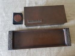 Vörös réz asztali szett - dohányzó készlet