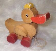 Régi HABA német retro vintage retró vintázs gurulós húzós fa kacsa játék