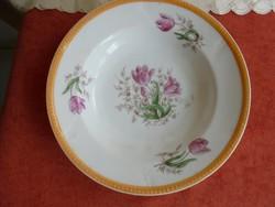 Tulipános porcelán fali tányér