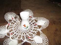 Aquincum Budapest kézzel festett kis porcelán váza