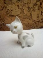 Különleges aquincumi porcelán bólogató cica, macska