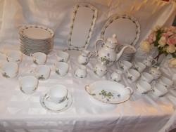 Szép régi Viola KAISER porcelán tálaló nem használt 57 db