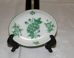 Ó Herendi zöld Viktória mintás porcelán tálka gyürűtartó
