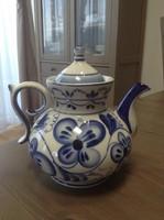 Régi orosz GZHEL kézzel festett porcelán nagy kávé kiöntő