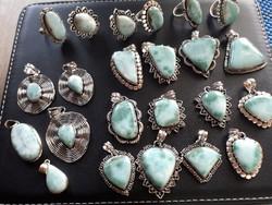 Eredeti larimár ékszerek 925 ös ezüst foglalatban