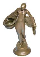 Zsolnay eosin szecessziós női figura , Mack Lajos