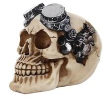 Zsírkő vagy ásványgyanta öreg motoros antikolt koponya
