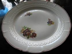 IRIS porcelán tál, tányér pünkösdi rózsákkal
