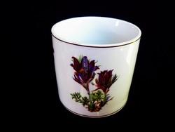Porcelán virágos ceruzatartó pohár