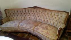 Chippendale 3 üléses sofa 2 db fotellel
