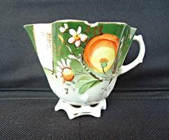 Orosz cári pecsétes porcelán kézzel festett aranyozott csésze