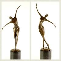 Dekoratív, formás bronz szobrok - Art deco aktok