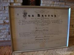 Keretezett doktori oklevél 1935