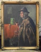 Horváth G. Andor (1876 - 1966) - híres magyar festőművész olajfestménye