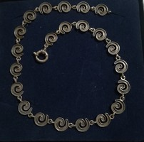 Antik ezüst csigamintás nyaklánc