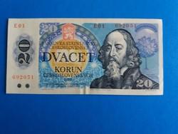 Csehszlovákia, kiváló 20 Korona .