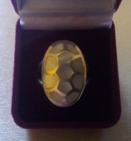Gyöngyház díszítésű ezüst gyűrű