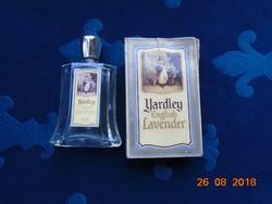 YARDLEY ENGLISH LAVANDER fazettált parfűmös üveg és papír dobozza