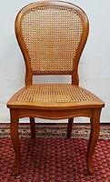 Rattanhálós neobarokk szék(ek)