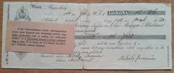 Díjkötelezvény 1918 - 10 Korona 96 fillér
