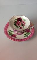 Royal rózsás kávéscsésze+tányér kézi festés