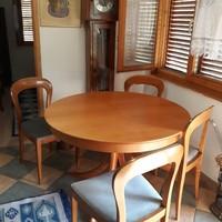 Cseresznye barok nagyobbitható étkezőasztal 4 székkel