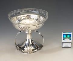 Ezüst bécsi szecessziós asztalközép