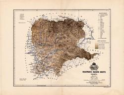 Beszterce - Naszód megye térkép 1888, Magyarország, vármegye, régi, atlasz, eredeti, Kogutowicz Manó