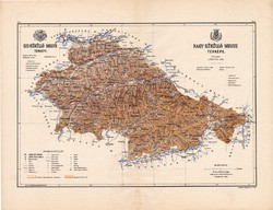 Kis - Küküllő és Nagy - Küküllő megye térkép 1886, Magyarország, vármegye, régi, atlasz, eredeti