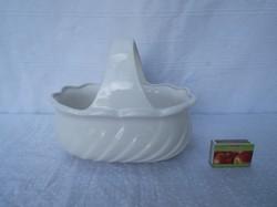 Kerámia kosár - gyönyörű - hófehér - 21 x 18 x 15 cm tökéletes - hibátlan