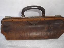Orvosi táska - WIEN FELIRATTAL- régi  OSZTRÁK  - gyönyörű  40 x 15 x 14 cm gyönyörű állapot