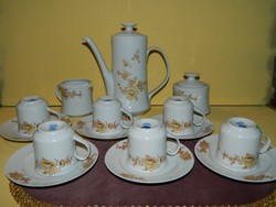 Retro Alföldi 6 személyes kávés készlet.