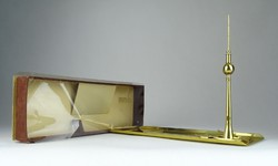 0S064 Retro arany színű Berlin TV torony dísztárgy