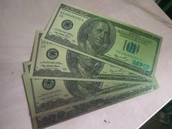 USA aranyozott 100 dollár UNC