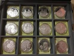 Ezüst érmegyűjtemény - Nemzetünk nagyjai