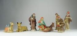 0S158 Jézus születése jelenet 9 db porcelán figura