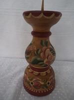 Gyertyatartó Osztrák Kézműves  16 x 7 cm kézzel festett gyönyörű