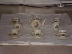 Bernadotte kézzel festett teáskészlet