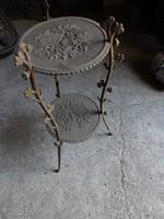 Antik 100 éves Szép Rózsás öntöttvas asztal asztalka posztamens Gyűjtemény