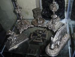 Antik kisplasztika öntöttvas 100 db gyűjtemény szobor hamutál tintatartó stb stb