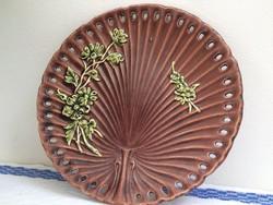 Antik majolika Schütz Cilli jelzett tányér - hibátlan
