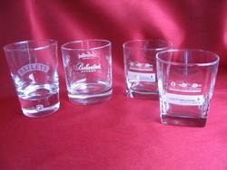 4 db. reklám viszkis, likőrös pohár darabra
