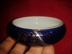 Arannyal díszített kobaltkék porcelán bonbonos HR G Ilmenau