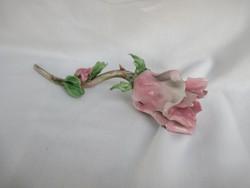 Kerámia rózsaszál.